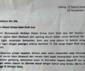 "Aliansi Ormas Islam Aceh Jaya Desak Kasus ""Dokter Mesum"" Diproses"