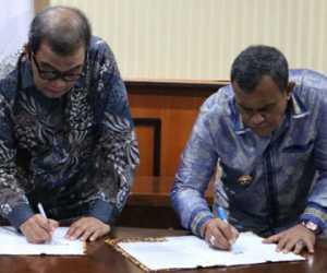 Bupati Aceh Jaya dan Rektor Unida Teken MoU Kerjasa Sama