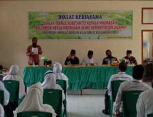 Kakankemenag Simeulue Buka Diklat Teknis Substantif Kepala Madrasah