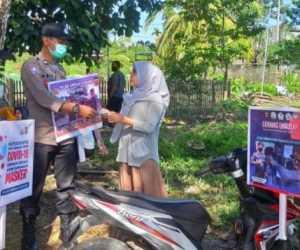 Bersama Koramil, Polsek Simpang Keuramat Gelar Operasi Yustisi