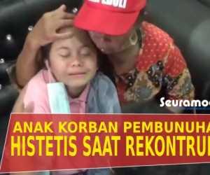 VIDEO - Tangis Histeris Anak Ini Pecah Saat Ikut Rekontruksi Pembunuhan Ayahnya