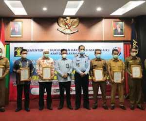 Kembali Aceh Jaya Mendapat Penghargaan Dari Kemenkumhan