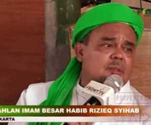 Polisi Tetapkan Habib Rizieq Shihab Tersangka Protokol Kesehatan