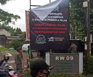 Belum Sampai 24 Jam, Baliho Ucapan Duka untuk Laskar FPI Dicopot