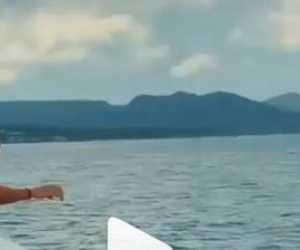 Gegara Konten, Pasangan Turis Asal Rusia Tercebur ke Laut