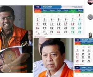 Viral! Kalender 2021 Bergambar Koruptor Beredar di Dunia Maya