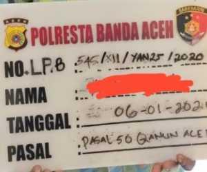 Pelaku Pelecehan Seksual ditangkap Polresta Banda Aceh