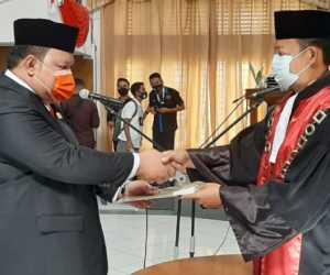 Ketua PN Lantik Irwanto Sebagai Wakil Ketua I DPRK Aceh Jaya