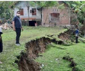 Fenomena Alam Tanah Bergerak Terjadi di Aceh Besar