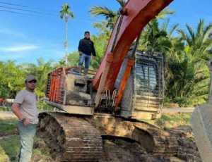 Polda Aceh Amankan Satu Unit Alat Berat Tambang Ilegal