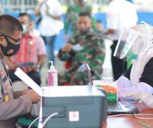 Kapolres Nagan Raya Ikut Launching Vaksin COVID-19 di RSUD-SIM