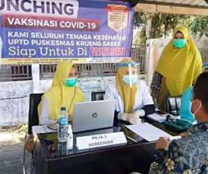 611 Nakes di Aceh Jaya Sudah Menjalani Vaksin COVID-19
