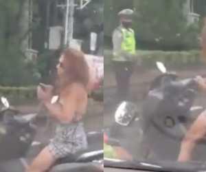 Viral Aksi Bule Tak Pakai Masker dan Helm, Bikin Warganet Geram