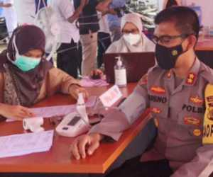 Jalani Vaksinasi Tahab Dua, Kapolres: Jangan Takut Divaksin