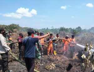 Lahan Terbakar, Proses Pemadaman Terkendala Akses Jalan