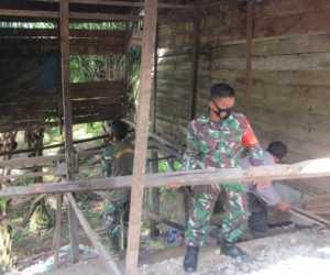 Personil Dandim 0110 Abdya Bantu Bangun Dua Unit Rumah Fakir Miskin