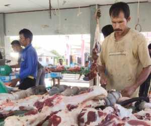 Pasokan Hewan Potong Meningkat, Harga Jual Daging di Aceh Jaya Stabil