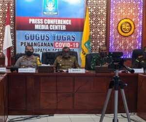 Bupati Aceh Jaya Ikut Rakor Penanganan COVID-19 Secara Virtual