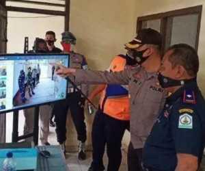 Bersama Dengan Kadis Perhubungan, Kapolres Aceh Tamiang Tinjau Pos Pemeriksaan Perbatasan