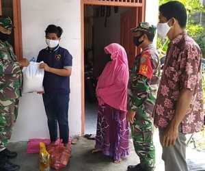 Kodim Nagan Raya Berikan Bantuan Sembako Untuk Anak Yatim