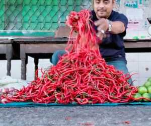 Minim Pembeli Harga Cabai Merah di Aceh Barat Daya Turun