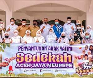 Komunitas Aceh Jaya Meurepe Santuni 172 Anak Yatim