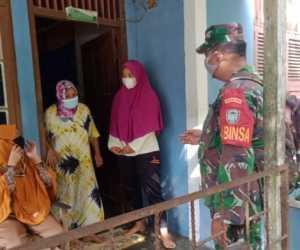 Jaga Wilayah Tetap kondusif, Babinsa di Aceh Jaya Sosialisasi Prokes