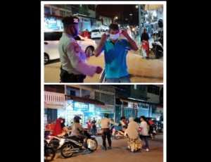 Tim Patroli Sigupai Sat Sabhara Polres Abdya Tertibkan Parkir dan Sosialisasi Prokol Kesehatan