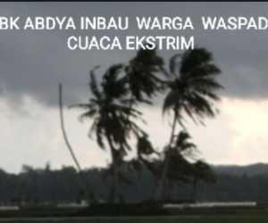 BPBK Abdya Minta Warga Waspada Cuaca Ekstrim