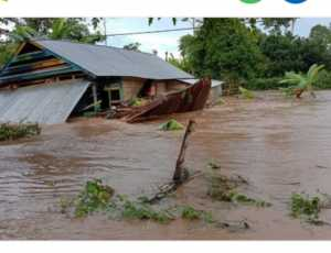 Satu Unit Rumah Warga di Aceh Selatan Terbawa Arus Sungai