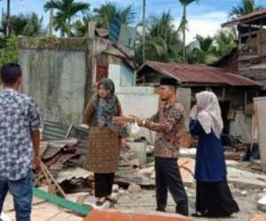 Baitul Mal Aceh Selatan Tinjau Rumah Warga yang Abruk Akibat Abrasi Sungai Kluet
