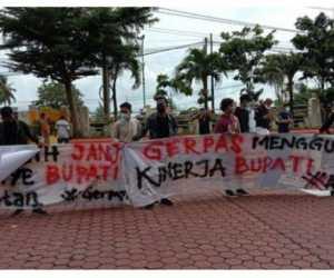 Gerpas Geruduk Kantor Bupati Aceh Selatan dengan sejumlah Tuntutan