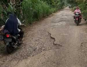 Jalan Desa di Aceh Selatan Rusak Parah