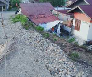 Talud Abutment Ambruk, Satu Rumah waga di Abdya Rusak Berat