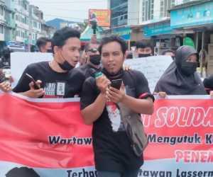 Wartawan Abdya Gelar Aksi Solidaritas Untuk Wartawan korban Penembakan di Simalungun Sumut