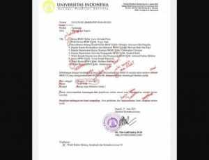 Viral! Surat Rektorat Panggil BEM UI Direvisi Warganet Bak Skripsi