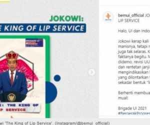 Dijuluki King Of Lip Service, Jokowi: Universitas Jangan Halangi Mahasiswa Berekspresi