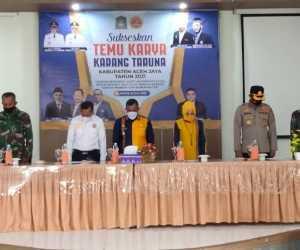 Bupati Aceh Jaya dan Istri Kompak Pakai Batik Pucok Oen Nilam