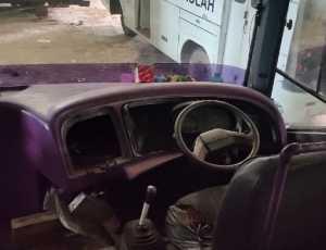Maling Sasar Onderdil dan Rusak Dua Unit Bus Sekolah Milik Dishub Abdya