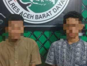 Sedang Transaki Sabu, Dua Warga Aceh Selatan Diamankan Polres Abdya