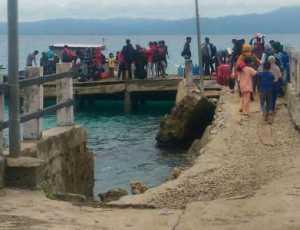 Kondisi Dermaga Pulau Siumat Simeulue Rusak Parah