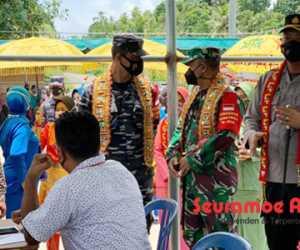 """Kapolres """"Tamong Gampong,"""" Warga Antusias Ikut Vaksinasi"""