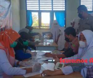 Siswa SMAN 2 Manggeng Abdya Jalani Vaksinasi Covid-19