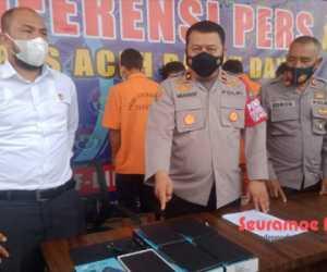 Polres Abdya Amankan Seorang Penadah dan Tiga Pencuri Tablet Sekolah