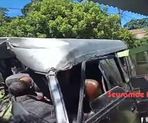 Truk Fuso Kontra L300 di Abdya, Sopir dan Penumpang Kritis
