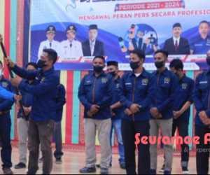 Pengurus PWI Aceh Jaya Masa Bakti 2021-2024 Dikukuhkan