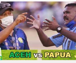 Aceh vs Papua, Simak Road to Final Sepak Bola Putra