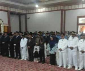 Puluhan Pejabat Eselon II, III dan IV Nagan Raya di Lantik