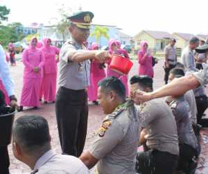 Puluhan Personel Polres Aceh Jaya Naik Pangkat Satu Tingkat