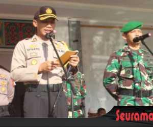 Hadapai Pemilu 2019 Polres Nagan Raya Gelar Apel Pasukan